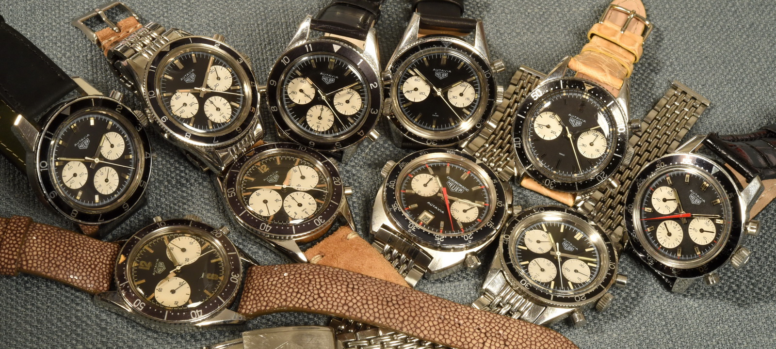 These 10 Autavias cover the range from the very first models, introduced in 1962, to the first automatic Autavia, introduced in 1969