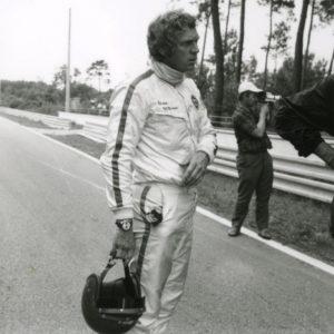 """Steve McQueen wearing """"Siffert"""" Autavia"""