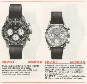 Heuer Catalog 1970 / 71 -- Autavia and Carrera