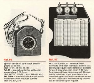 Heuer Catalog 1970 / 71 -- Accessories