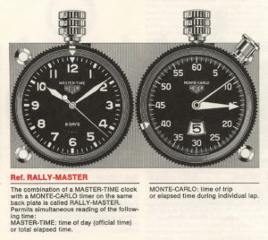 Heuer Catalog 1970 / 71 -- Rally-Master Pair