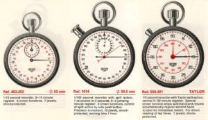 Heuer Catalog, 1970 / 71 -- Three Stopwatches