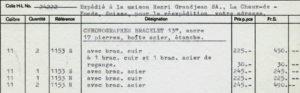 Le Mans Invoice -- Carreras